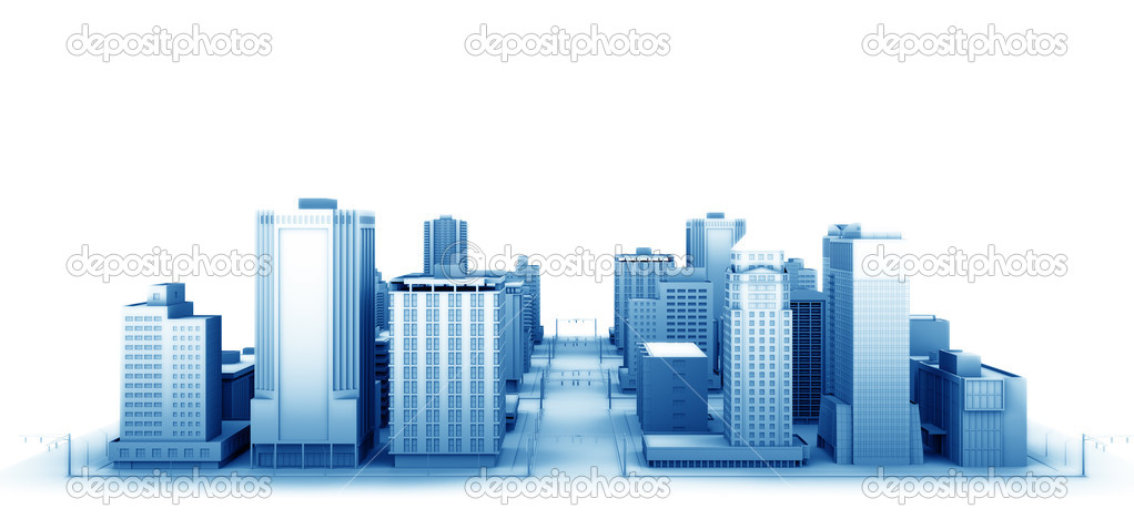 3d illustration of a fictional city. — Stock Photo #3914987