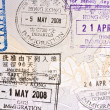 Immigration Stamp of Hong Kong - Stock Photo