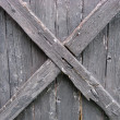Fence weathered wood - Stock Photo