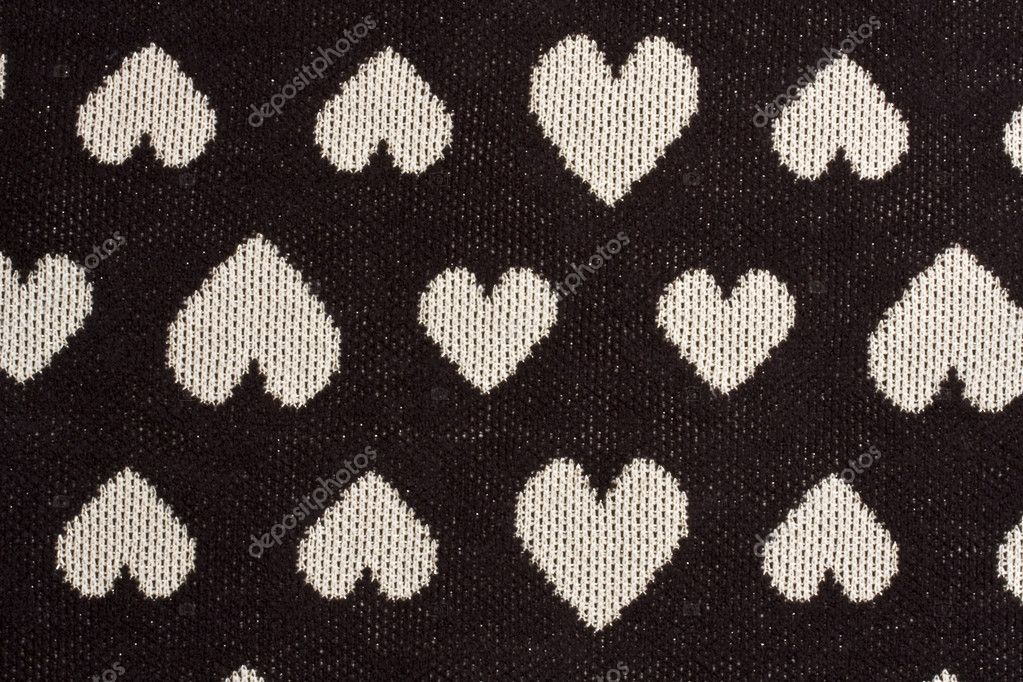 Texture of heart shaped fabric background  Stock Photo #3267082