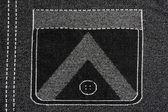 Denim fabric with pocket pattern background — Stock Photo