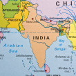 India on a map — Stock Photo