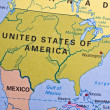 United States of America on a map — Stock Photo
