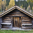 Old cabin in mountain — Stock Photo