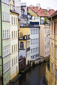 Old and colorful buildings in Prague — Стоковое фото