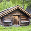 Old traditional wooden cabin - Stok fotoğraf