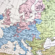 Handmade Ancient map of Europe — Stock Photo