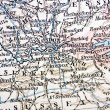 Handmade ancient map of London — Stock Photo