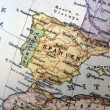 Handmade map of Spain — Stock Photo #3416976