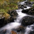 Stock Photo: Flowing water of mountain stream