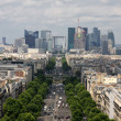 Stock Photo: Aerial view of Paris Champs Elysees