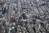 Flygfoto taibei staden — Stockfoto