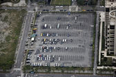 Aerial view parking area — Stock Photo