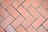 Texture of red bricks structure road — Stock Photo