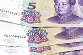 Pozadí čínských peněz — Stock fotografie