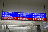 Chinese and English directional signs — Stock Photo