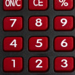 Background of red Calculator — Stock Photo
