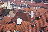 Red roof of buildings — Foto Stock