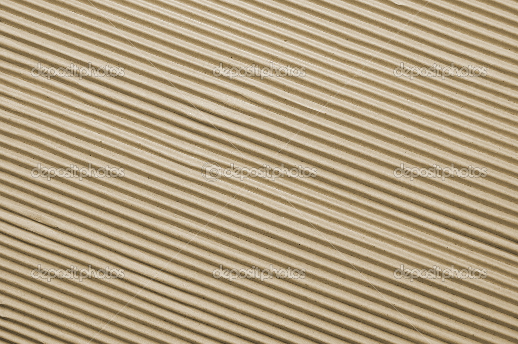 Angled close up of ridges in corrugated cardboard — Stock Photo #3421940