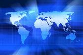 Kaart van de wereld — Stockfoto