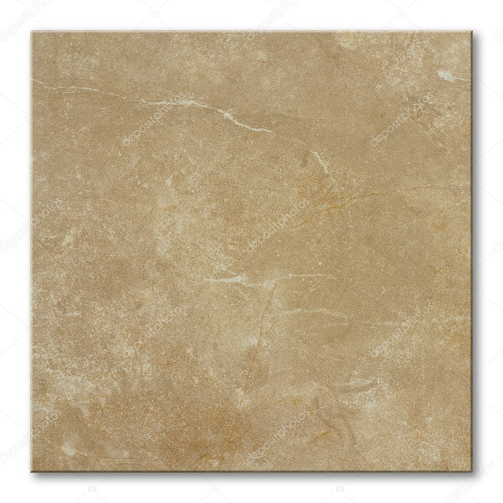 Square floor tile with natural stone marble effect — Stock Photo #3502871