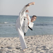 Foto Stock: Karate kick
