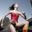 Superhero in the city - Stock Photo