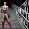 Stock Photo: Womin superhero costume
