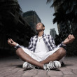 Stock Photo: Teenager meditating