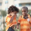 Candid image of two young boys — Stock Photo