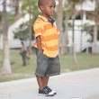 Young child in the park — Stock Photo