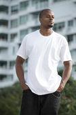 Young black man posing outdoors — Stock Photo