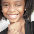 Headshot of a young African American girl — Stock Photo #3200195