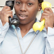 Busy businesswoman — Stock Photo #3220559