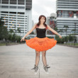 Urban ballerina — Stock Photo