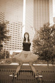 Ballerina in the city — Stock Photo
