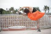 Ballerina Stretching — Stock Photo