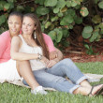 Female gay couple — Stock Photo