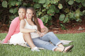 Female gay couple — Stock Photo