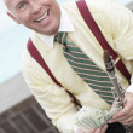 Businessman with money — Stock Photo