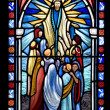 Biblical Stained Glass Detail - Stock Photo