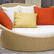 Stock Photo: Modern Wicker Garden Sofa