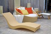 Modern Wicker Garden Furniture — Stock Photo