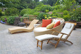 Modern Wicker Garden Furniture — Foto de Stock