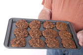 Triple Chocolate Cookies — Stock Photo