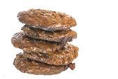 Triple Chocolate Cookies — Stock Photo