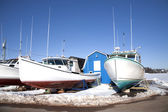 Prince Edward Island Winter Fishing Boats — Stock Photo
