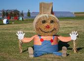 Giant Halloween Scarecrow — Stock Photo