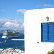 Mykonos Cruise Ship — Stock Photo