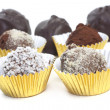 Homemade Chocolate Truffles — Stock Photo